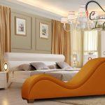 Ghế tình yêu màu cam